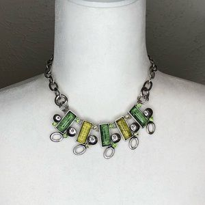 Howard's jewelry, statement necklace set silver